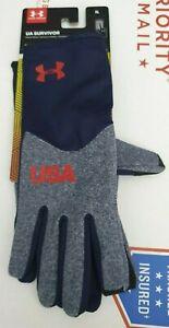 Under Armour COLDGEAR SURVIVOR INFRARED WOMEN'S USA Liner Run Gloves 1316982-410