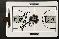 Notre Dame Irish MIKE BREY Signed Autographed Basketball Clip Board COA GO IRISH
