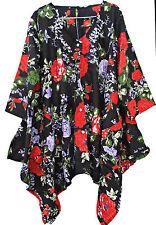 10+ Colors Pocket Lagenlook Tunic Top Dress Beach Kaftan Size 16 18 20 22 24 26