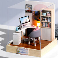 DIY Miniature Dollhouse Kit Realistic Mini 3D Wooden House Room Kids Gifts Toys