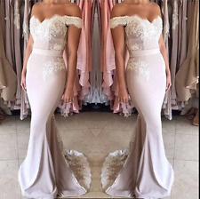 Mermaid Long Wedding Ball Gown Party Prom Dresses Bridesmaid Dress Evening Gowns