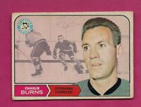 1968-69 OPC # 198 PENGUINS CHARLIE BURNS  GOOD CARD (INV# A5805)