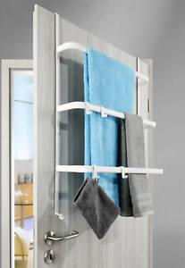 Tür Handtuchhalter, Metall, weiß-matt Aufbewahrung Hängeregal Türregal Bad Regal