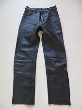 Levi's Biker Lederhose Leder Jeans Hose W 28 /L 30, schwarz, USED Sammlerstück !