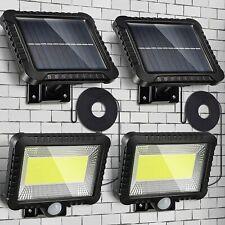 2x 100 LED Solar Powered Sensor Light Security Flood Motion Garden Outdoor Lamp