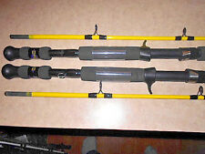 [ 2 ] new zebco 7 foot 2 pc. med. / heavy action hawg seeker casting rods