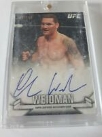 2013 Topps UFC Knockout Chris Weidman Autograph 69/149 Card# KAR-CW