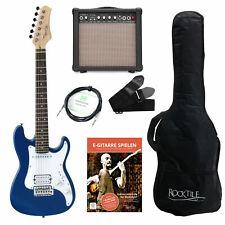 Guitare Electrique 3/4 Junior Set Amplificateur Sac Cordes 3m Cable Sangle Bleu