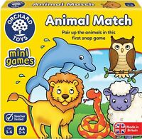 Orchard Toys MINI GAME ANIMAL MATCH Educational Game Puzzle - BN