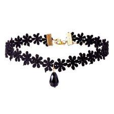 Halsband schwarz Spitze gänseblümchen-blume Promi-Stil Tattoo Mädchen Frauen