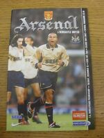 18/12/2001 Arsenal v Newcastle United [Double Season] . Footy Progs/Bobfrankande