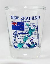 NEW ZEALAND LANDMARKS AND ICONS COLLAGE SHOT GLASS SHOTGLASS