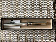 Pentel Excalibur RX15 Roller Ball Refillable Pen 0.35mm,black ink, silver barrel
