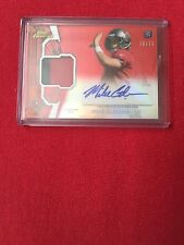 2012 Topps Finest Mike Glennon Rookie Auto And Jersey Red Variation 18/75
