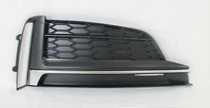 replacement 2018-19 S5 A5 front bumper cover lower RH side grille insert trim