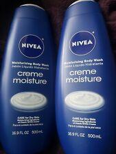2 Nivea Moisturizing Body Wash Creme Moisture 16.9 oz