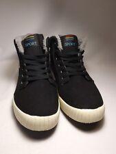 FASHION PROFESSIONAL SKATEBOARD SPORT Sz 47 US13 Shoe Black Suede Hightop Shoes