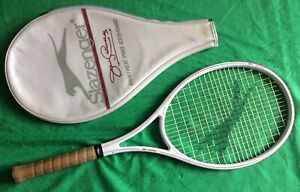 RARE Vintage SLAZENGER Panther Pro Ceramic Jimmy Connors Tennis Racket + Case