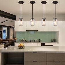 Glass Mason Jar Light Adjustable Farmhouse Kitchen Island Pendant Light Fixture