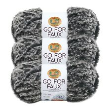 Lion Brand Yarn 322-200 Go for Faux Yarn, Mink (Pack of 3 Skeins)