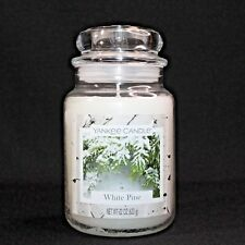 Yankee Candle White Pine Large 22 oz Classic Jar White Label Table Top Decor
