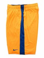 Men's Nike Dri-Fit Basketball Shorts Medium Elastic Waistband Yellow Blue Stripe