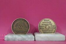 Recovery coins AA 20 Year Bronze Medallion tokens sobriety affirmation birthday