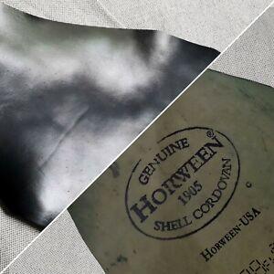Horween Shell Cordovan (CHIPS) - Black - 1.5/2.0mm (4.0/5.0oz)