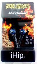 iHIP Skull Breaker Ear phones Ear Buds For Phones Tablets & More Blue/Black NEW