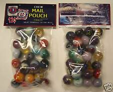 2 BAGS OF MAIL POUCH TOBACCO PROMO MARBLES