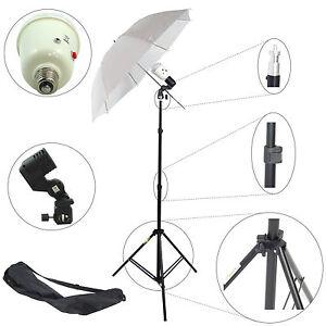 Kit DynaSun SDW45 Photo Studio Slave Flash w/ Holder Umbrella Stand Bag Bulb 45W