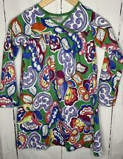 HANNA ANDERSSON 130 size 8 Green FLORAL EMPIRE LONG SLEEVE DRESS