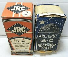 Pair NOS UX-281 Rectifier Tubes – one Arcturus Blue (87)