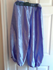 NEW Periwinkle Blue Sateen Harem Pants, Belly Dance Genie Costume Size SM/Med