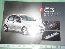 Citroen C3 Exclusive Plus Special Edition brochure Mar 2008