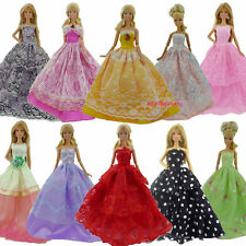5pcs Beautiful Handmade Wedding Dress Party Gown Clothes Outfits For Barbie Doll