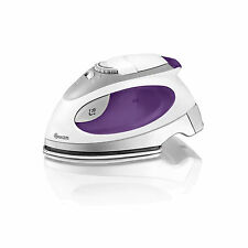Swan Travel Iron 900W Stainless Steel Soleplate Steam Button Pouch White New