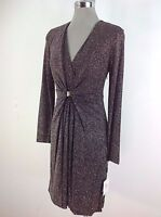 Calvin Klein NWT Exquisite Dress Black multi Shimmer Sheath Buckle sz 2 4 6 8 12