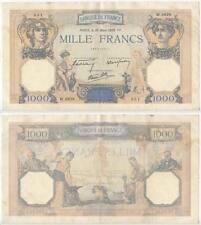 GB228 - Banknote Frankreich 1000 Francs 1939 Pick#90c. France