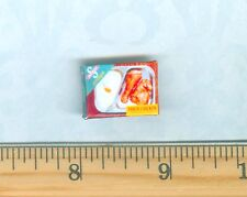 DOLLHOUSE Miniatures SIZE  Frozen Fried Chicken T V Dinner  Box