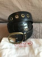 Brand New Coach Black Leather Belt (Medium)