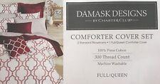 Damask Designs By Charter Club Geo Garnet Comforter Cover Set Full/Queen Niop