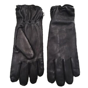 BRITISH ARMY SURPLUS ISSUE BLACK LEATHER, LINED ECW SOLDIER 2000 COMBAT GLOVES