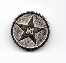 M1 Tokens Old style Round Vending Meter Coin for Lockers,Shopping Trolley etc