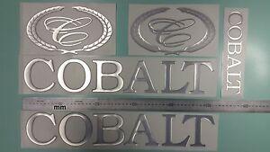"Cobalt boat Emblem 20"" chrome + FREE FAST delivery DHL express - raised decals"