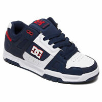 DC Shoes Men's Stag Low Top Sneaker Shoes Athletic Red White Footwear Skate