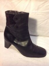 RIVA Black Ankle Leather Boots Size 39