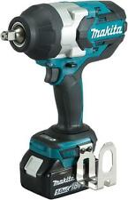 Makita DTW1002RTJ with Makpac  case and 2 x 5.0Ah Li-ion Batteries 18 Volt Impact Wrench - Blue