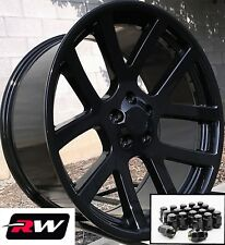 "Dodge Charger Oe Replica Wheels 20"" inch Viper Gloss Black Rims 20x9"" & Lug Nuts"