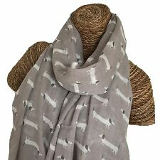DACHSHUND SAUSAGE DOGS SCARF LADIES SCARF WITH DACHSHUNDS SUPERB SOFT QUALITY